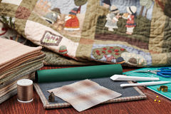 Tools for Quilt Applique Stock Photography