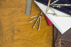 Tools ready for planning Royalty Free Stock Photography