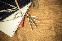 Tools ready for planning Stock Photos