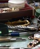 Tools for repair of clocks Stock Image