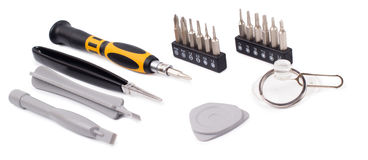 Tools for repair of electronics. Isolated Stock Image