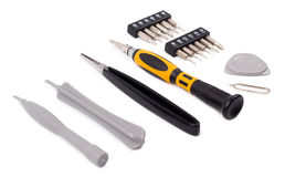 Tools for repair of electronics. Isolated Royalty Free Stock Photos