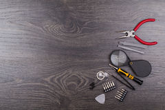 Tools for repair of electronics. On a table Stock Photography