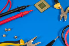 Tools for repair lie on the table Stock Image