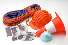 Construction safety tools Stock Photos