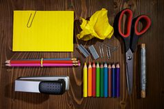 Tools for school Royalty Free Stock Photos