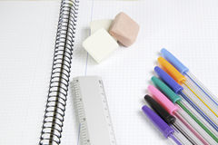 Tools of the school Stock Images