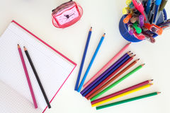 Tools for school children Royalty Free Stock Image