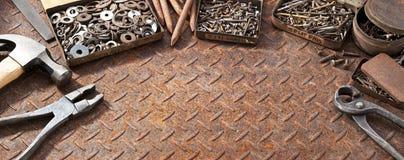 Tools Screws Rusty Background