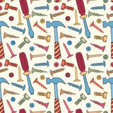 Tools seamless bright color pattern Royalty Free Stock Photos