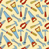 Tools seamless color pattern Stock Images