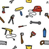 Tools seamless vector pattern Stock Photography