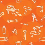 Tools seamless vector pattern Stock Image
