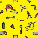 Tools seamless vector pattern Royalty Free Stock Images