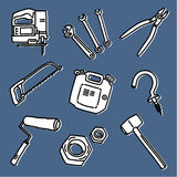 Tools set 2 Royalty Free Stock Image