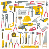 Tools set. Set of construction tools vector Stock Illustration