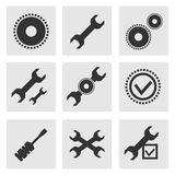 Tools set. 9 different tool icons flat style Stock Photos