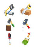 Tools. Set of  icon. Stock Photo