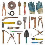 Tools. Set of tools isolated on white background Royalty Free Stock Photos