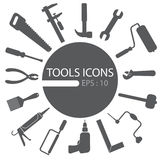 Tools set,. Isolated, wrench icon. Construction icons universal set for web and mobile Royalty Free Stock Photos