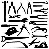 Tools set - vector. In black Royalty Free Stock Photos