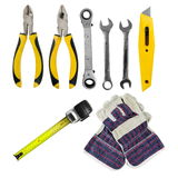 Tools set on  white Stock Images