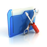 Tools and settings icon. 3d render Royalty Free Stock Image