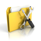 Tools and settings icon. 3d render Royalty Free Stock Photo