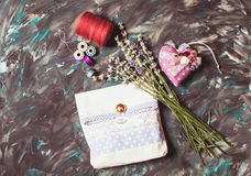 Tools for sewing alert - time to work Royalty Free Stock Photography