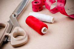 Tools for sewing and handmade Royalty Free Stock Photos