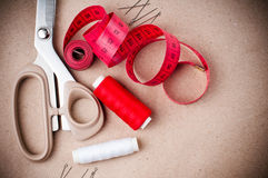 Tools for sewing and handmade Royalty Free Stock Photography