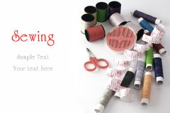 Tools for sewing and handmade Royalty Free Stock Photo