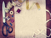 Tools for sewing Royalty Free Stock Photography