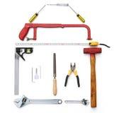 Tools shaped like a house Stock Photo
