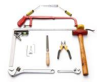 Tools shaped like a house Stock Image