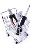 Tools in shopping cart. Isolated Stock Photography
