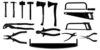 Tools Silhouette Royalty Free Stock Photo