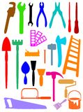Tools silhouettes Stock Photography