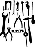 Tools silhouettes set Stock Image