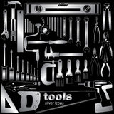 Tools silver icons Stock Photo