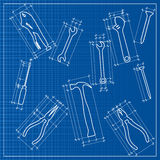 Tools  sketch Royalty Free Stock Photo