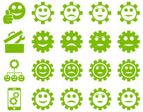 Tools and Smile Gears Icons Stock Photo