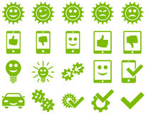 Tools and Smile Gears Icons Stock Photos