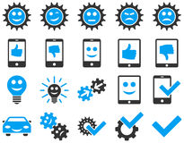 Tools and Smile Gears Icons Stock Image