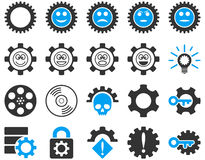 Tools and Smile Gears Icons Royalty Free Stock Photo