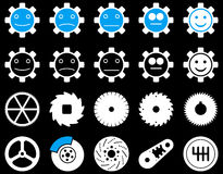 Tools and Smile Gears Icons Royalty Free Stock Image