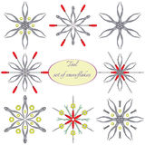 Tools in snowflakes royalty free illustration