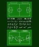 Tools of soccer tactics. Tactics diagram on a board. Tools of soccer tactics. Strategy board Stock Photo