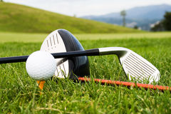 Tools of sport of golf Stock Photography
