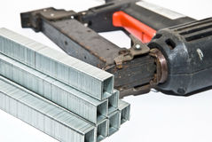Tools / Staples and Stapler royalty free stock photo